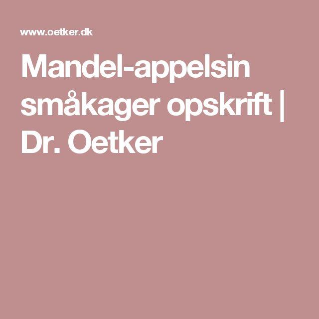 Mandel-appelsin småkager opskrift | Dr. Oetker