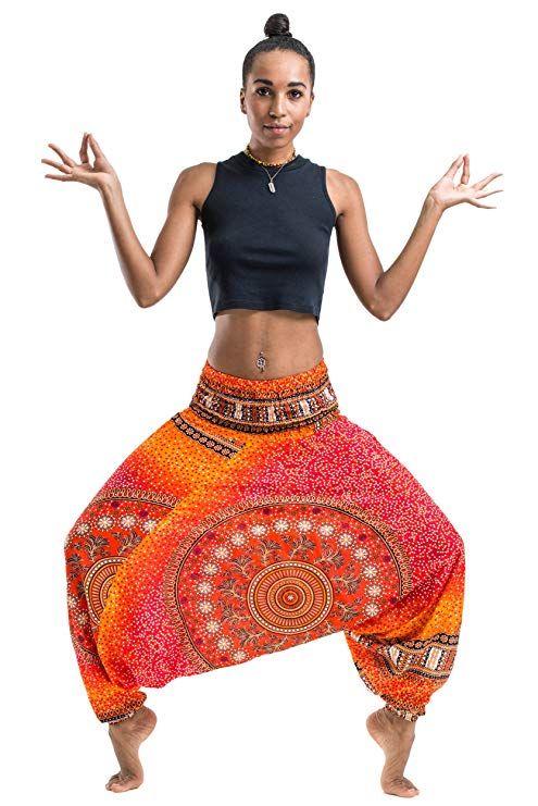 acb3a13d4b7 Harem Pants Unisex Tribal Chakra Jumpsuit Harem Pants for Men   Women