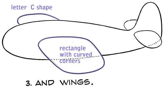 How to Draw a Cartoon Airplane