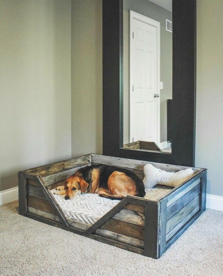 Rustic dog bed
