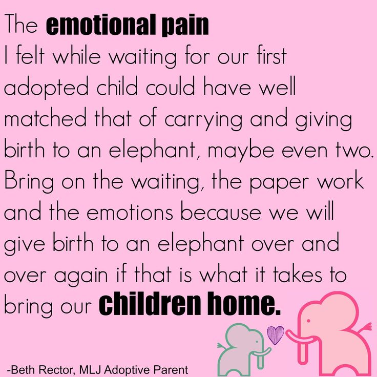 Giving birth to an elephant - adoption is equal to the gestation of an elephant! | MLJ Adoptions | Adoption Quotes