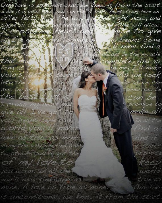 First Dance Lyrics on Photo of Your Choice on Etsy, $20.00