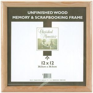 """Memory Frame 12""""X12""""-Unfinished Wood"""