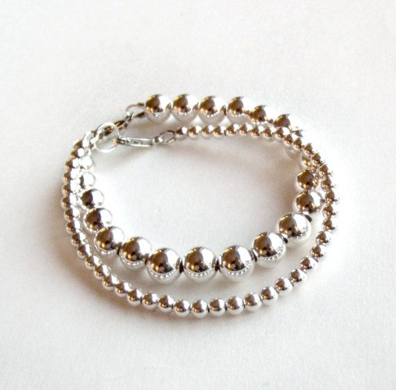 Tiffany Inspired Bead Bracelet in Sterling Silver  by GetNoticed, $34.00