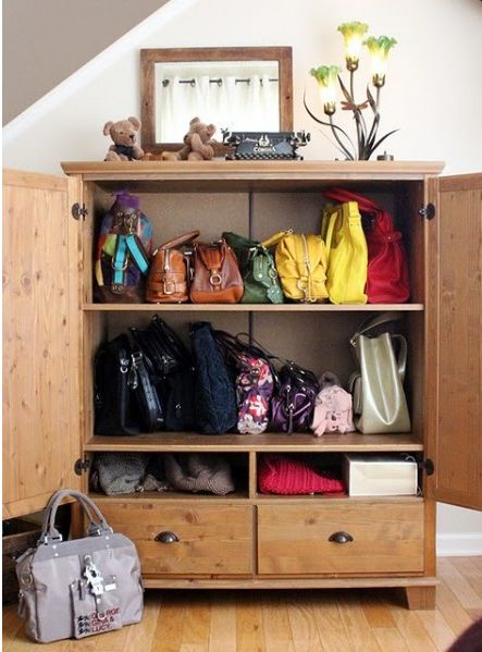 I wish I had the space where I could dedicate a whole armoire to my purse collection!