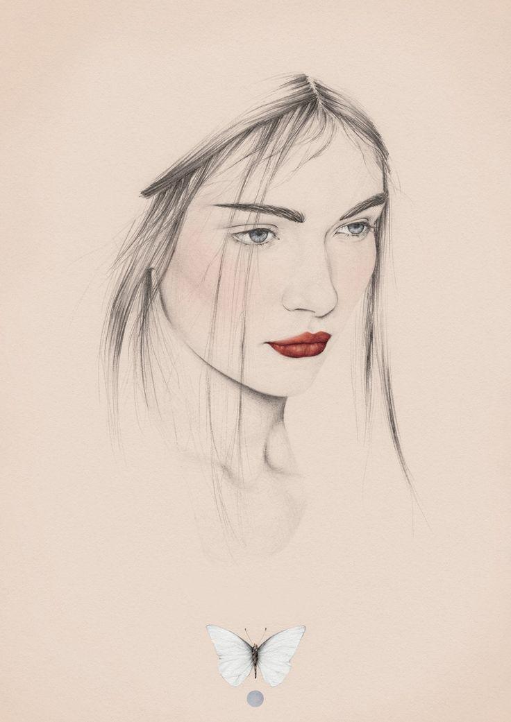 digital portrait drawing in pencil + photoshop: Emma Leonard Illustrator based in Melbourne, Australia (via DigitalArtsOnline.co.uk)