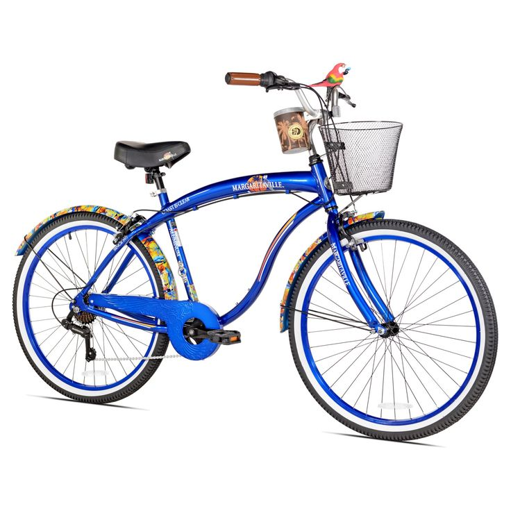 Margaritaville Mens Coast Is Clear 7 Speed Cruiser Bike - 62672