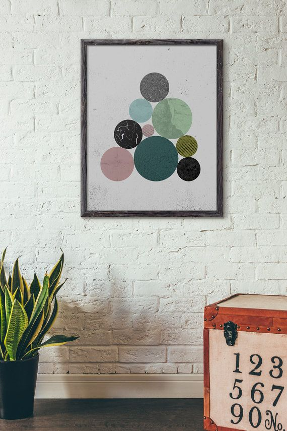 Circle, Loft Wall Art, Geometric Art Printable, Industrial Wall Decor, Modern Art Printable, Scandinavian Art Print, Mid Century Art, D069