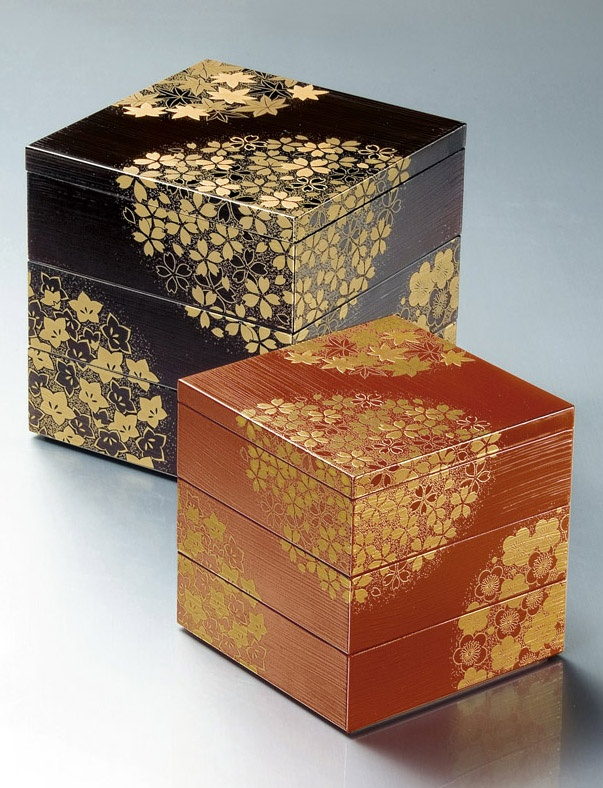 Japanese Shikki Lacquer Ware Boxes