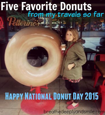 Five Friday Favorites: Donuts in my Travels {National Donut Day 2015}