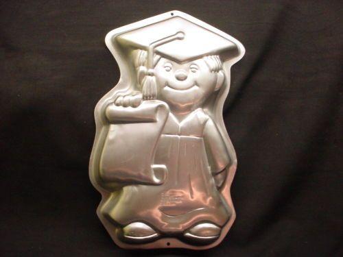 Wilton Boy Girl Graduate Cake Pan Grad Cap Gown Diploma