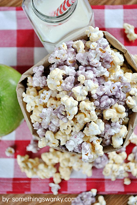 """PB and Jelly Popcorn - Love every single ingredients in this. Must. Try. @Angie Wimberly Bushey UMMM Mrs. """"I love ot make popcorn"""", I will be the tast tester for this!!! ;-)"""