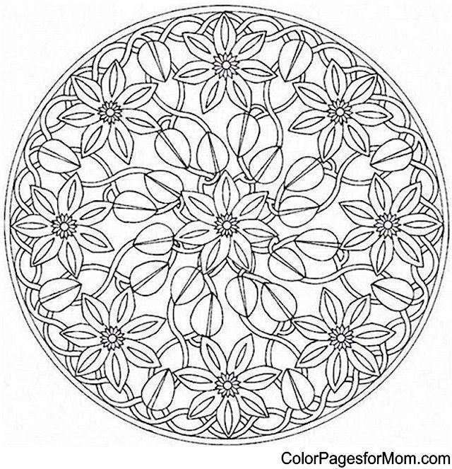 Nature Mandala Coloring Pages