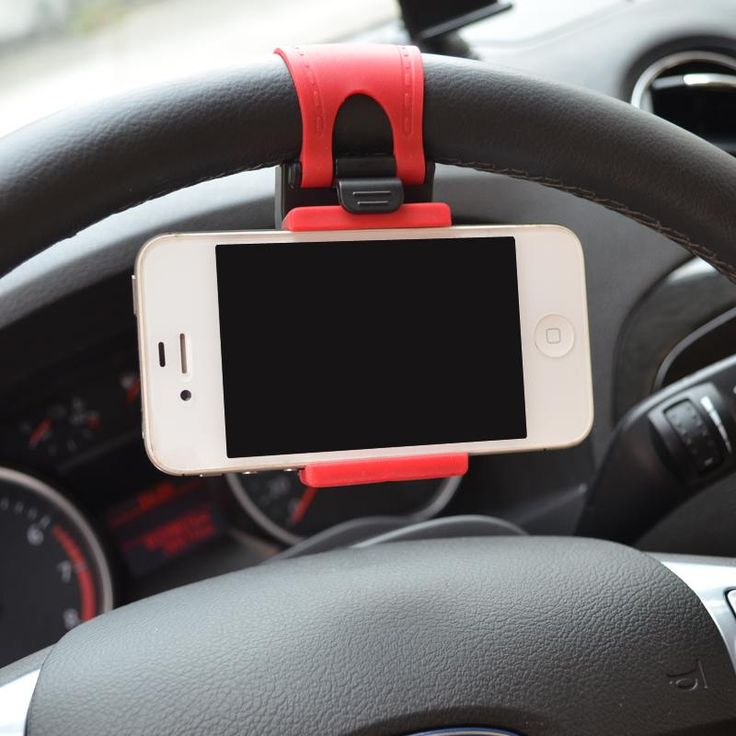 Universal Mobile Phone Holder Car Steering Wheel Clip Mount Holder for iPhone 8 7 7Plus 6s Samsung S6/S7 Mobile Phone GPS stand