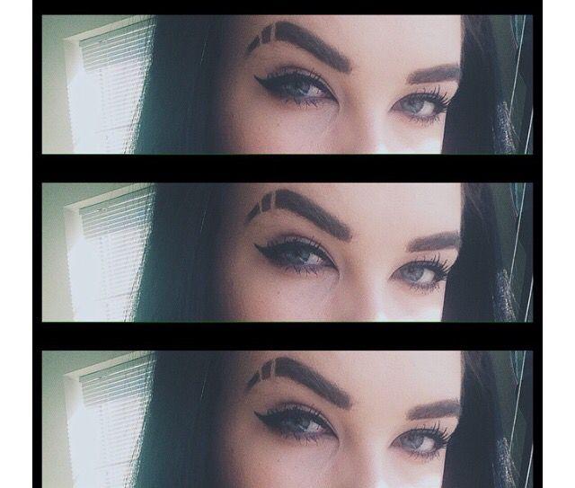 Eyebrow Slit Womens Hair Inspiration Pinterest Eyebrows