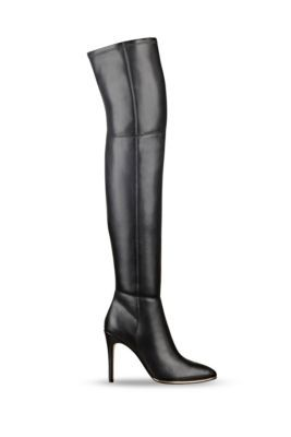 Black Zonian Over the Knee-High Pointy Toe Boots   GUESS $160