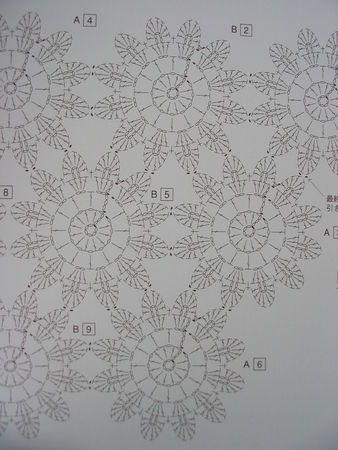 Japanese crochet flowers pattern