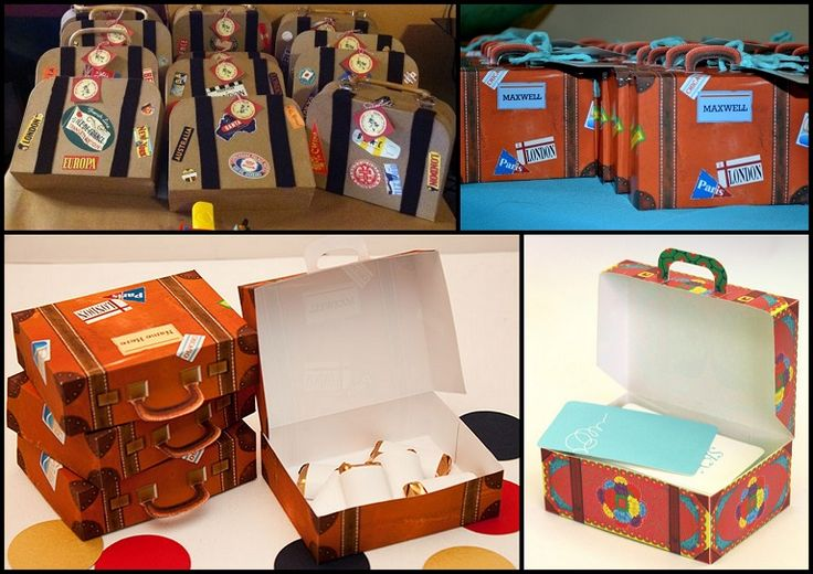 Free Printable Suitcase Favor Box.