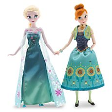 Anna and Elsa Dolls Gift Set - Frozen Fever - 12'' I don't need more Frozen dolls in my house.  (Repeat to self as often as needed)