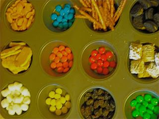 Creation Mix--trail mix with each food representing a day of creation. Fun!