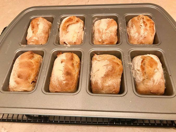 Baguette Brotchen Magique Aus Der Mini Kuchen Form Von Pampered Chef Mini Kuchen Baguette Brotchen Rezepte