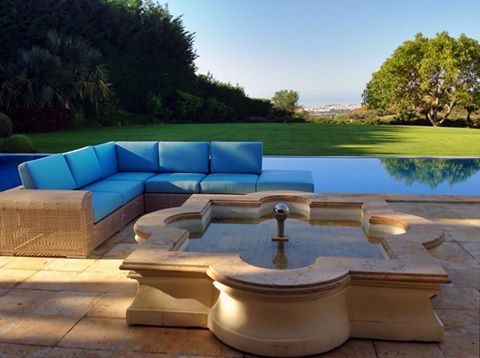 Luxury Outdoor Foam Cushions Cut To Size And Shape And Upholstered In Water  And Weather Resistant