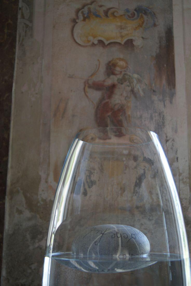 Alfredo Gioventù, floating stone, Castello di Agliè (To), Italy
