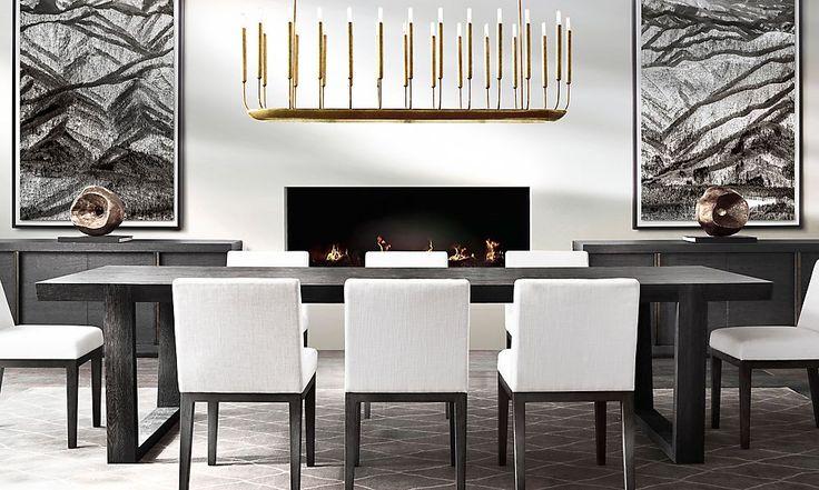 Lusting after: RH Modern, C.B.Huhges design | bocadolobo.com/ #diningroomdecorideas #moderndiningrooms