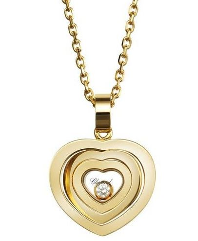 Chopard faves 21 pinterest first pendand shes wearing chopard small happy spirit heart pendant 18kt yellow gold 73 mozeypictures Gallery