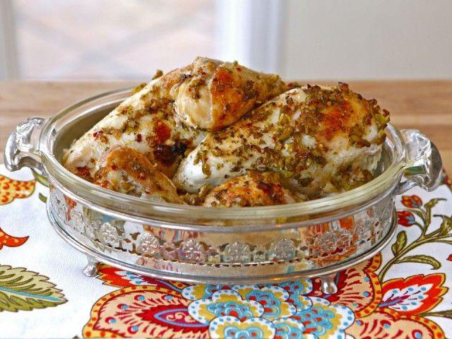 Mediterranean Olive Chicken - Marinated Roast Chicken Recipe