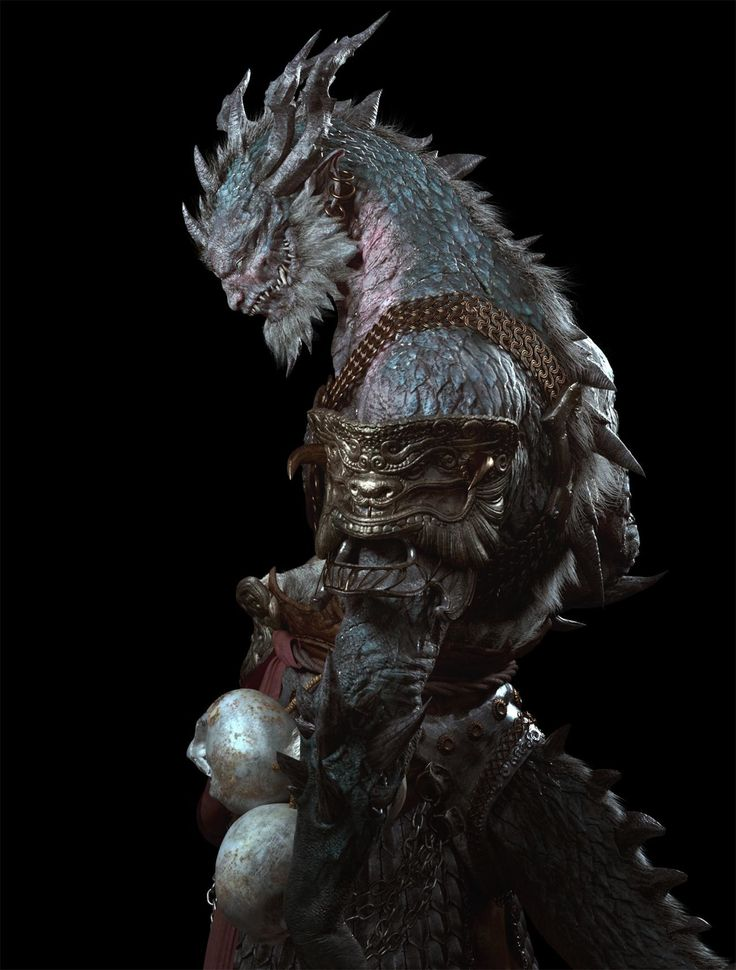 ArtStation - The Salamander Demon King, yipeng zhang
