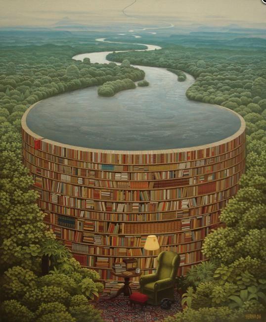 Bible Dam ~ Jacek Yerka