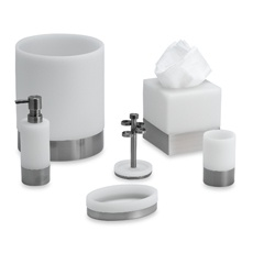 Apex White Bath Ensemble. My new bath set. I like it.