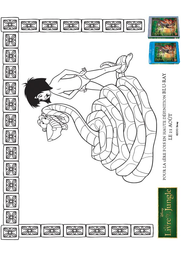 coloriage d une affiche du dessin anim le livre de la. Black Bedroom Furniture Sets. Home Design Ideas