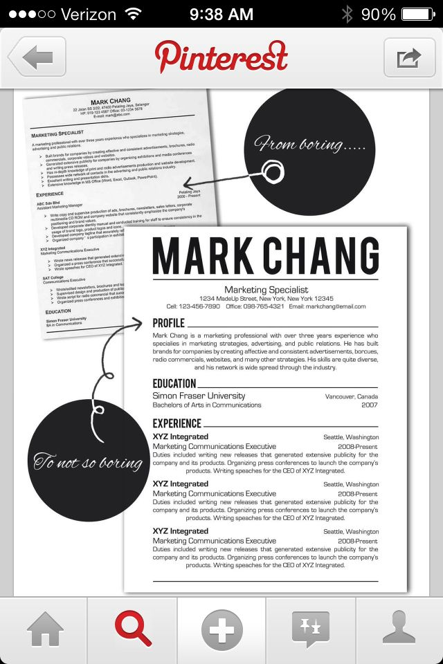 22 best resume images on Pinterest Resume tips, Design resume - resume template tips