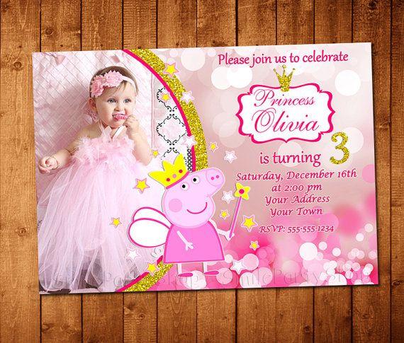Peppa Pig Princess Invitation Peppa Pig Birthday by SmileParty