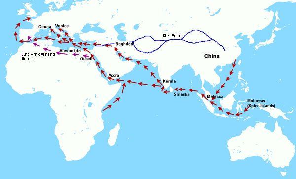 European - Asian Trade: earliest times to 1900s