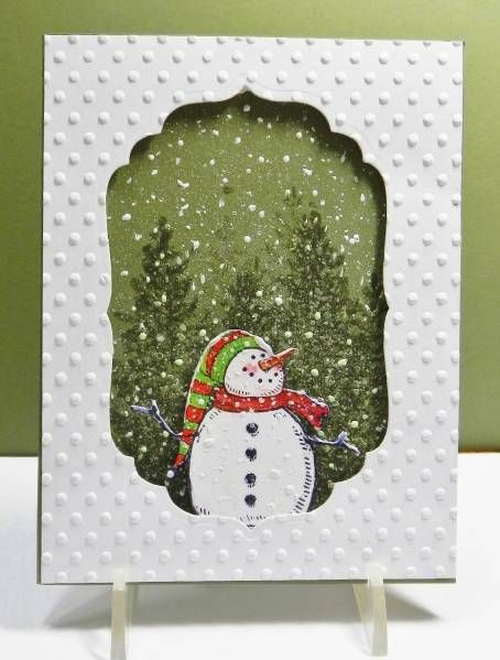Cute Snow Fun Card...#3 by jandjccc - Cards and Paper Crafts at Splitcoaststampers FS312.