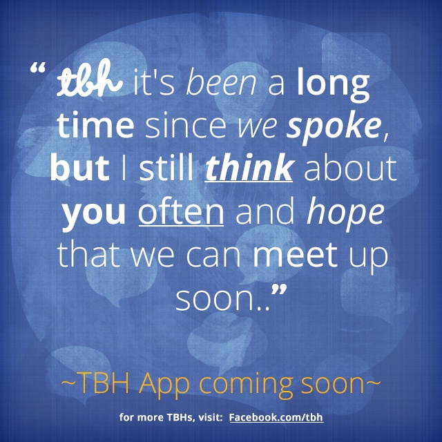 Click To Be One Of The First To Try The New TBH App! #tbh