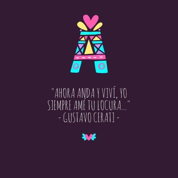 Gustavo Adrián Cerati (Buenos Aires, 11 de agosto de 1959 -ibídem, 4 de septiembre de 2014) fue un músico, cantautor, compositor y productor discográfico argentino, considerado uno de los más influyentes y reconocidos músicos del rock...