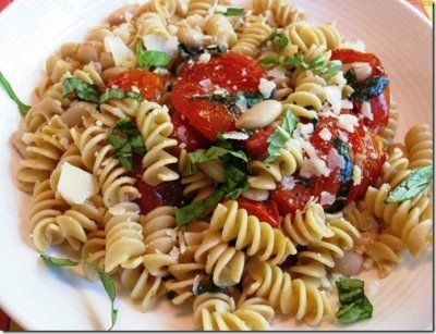 Penne with Roasted Tomatoes Garlic & White Beans WW 9 points ...