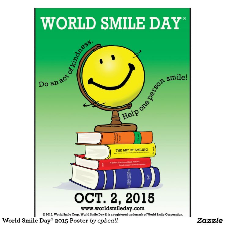 It's World Smile Day! Show and act of kindness simply by giving someone a smile