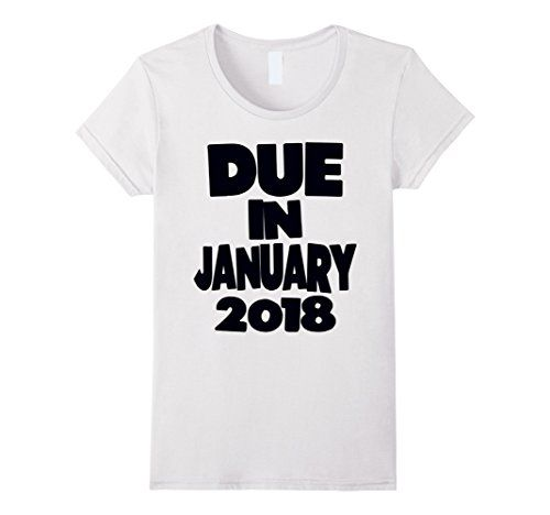 Womens Due In January 2018 Pregnancy Announcement T-Shirt... https://www.amazon.com/dp/B075FVLDW3/ref=cm_sw_r_pi_dp_x_YQbTzb7M91NWD #PregnancyAnnouncement  #preggo #pregnant #newbaby #preggers #genderreveal #sexreveal #dueinjanuary
