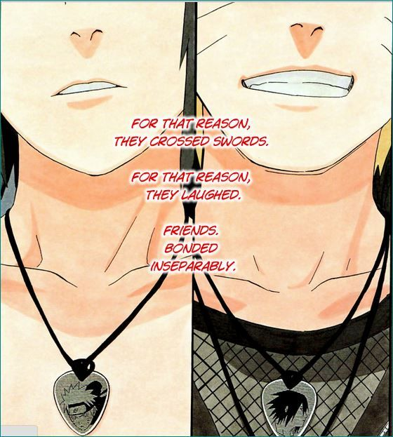 Sasuke and Naruto - I know I've pinned this before, but I love this pic so much I just don't care. ;)