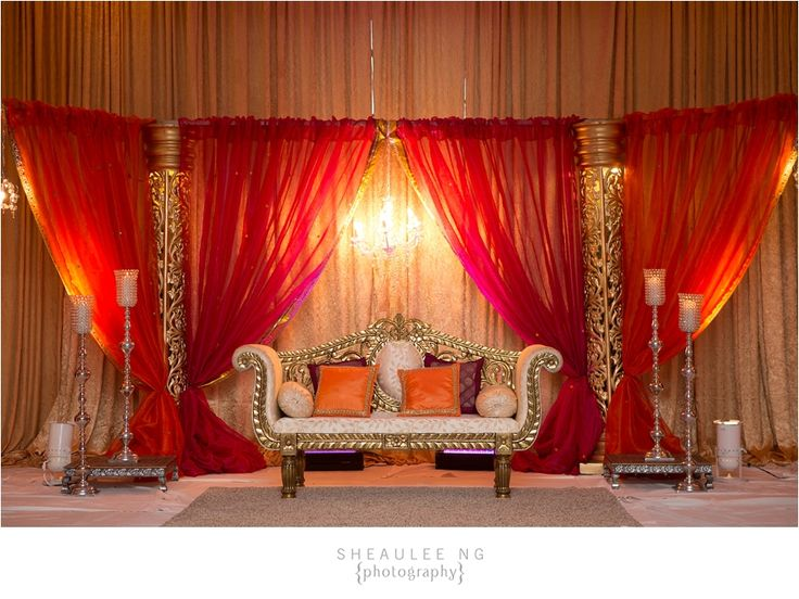 Indian Wedding at Westfields Marriott VA   Pink and Orange decor   Image by Sheaulee Ng Photography