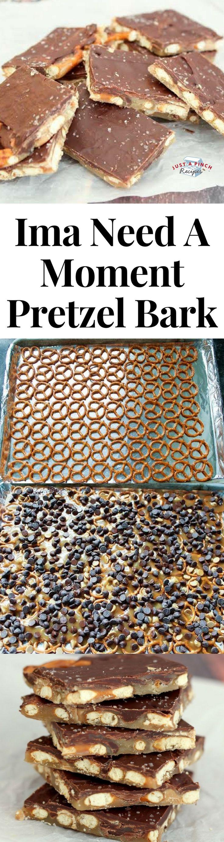 quick and easy pretzel bark dessert pretzels easydesserts easyrecipe