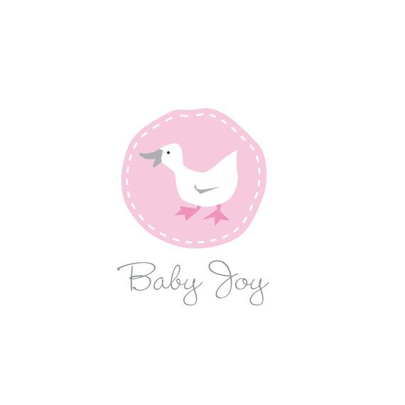 Custom made logo for baby boutiques, baby toys, baby food or products. Purchase on line and download.