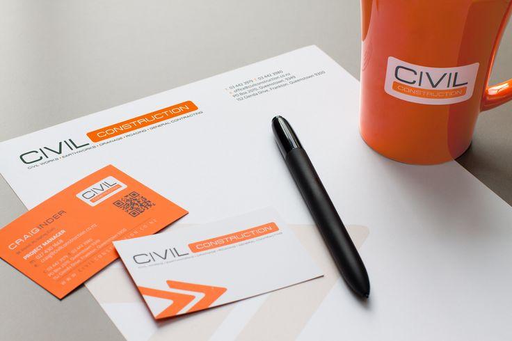 14 best creative stationery portfolio images on pinterest brand stationery design print for civil construction queenstown new zealand spiritdancerdesigns Choice Image