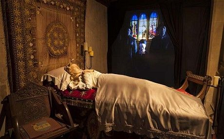 "A recreation of Katherine lying in state ""I didn't realise how important the date of her death was in the history of the Church of England,""..."