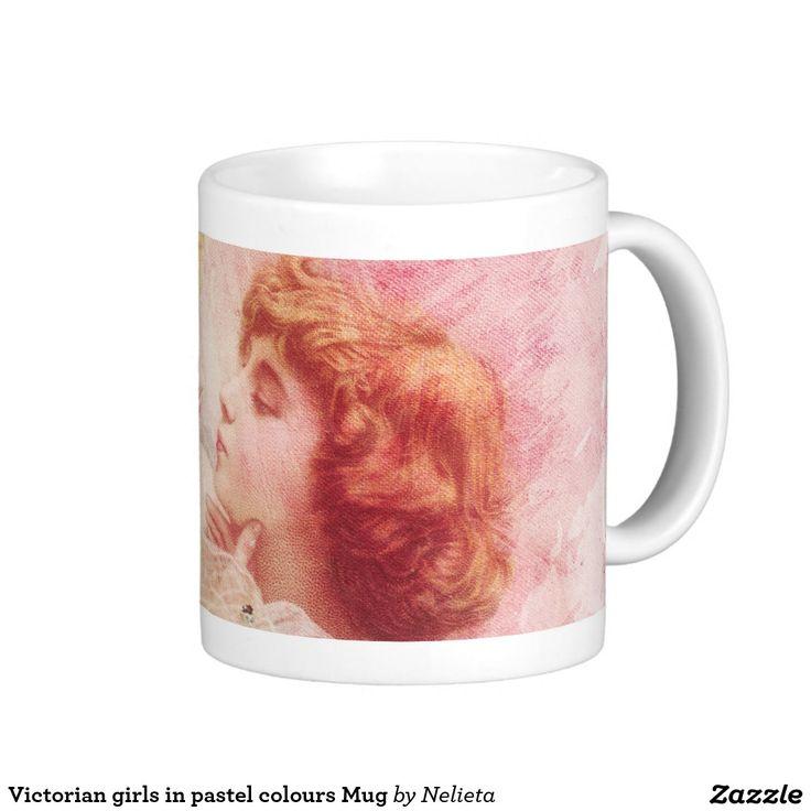 Victorian girls in pastel colours Mug